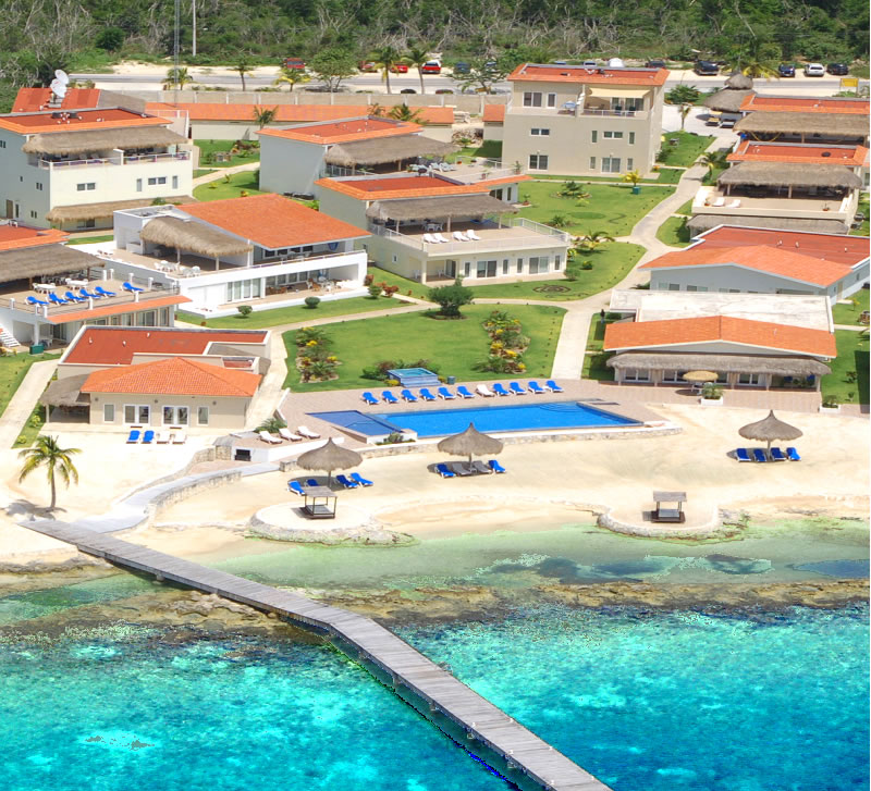 Aerial View Costa Del Sol and Cozumel Villa Coralina